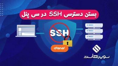 دسترسی SSH در سی پنل